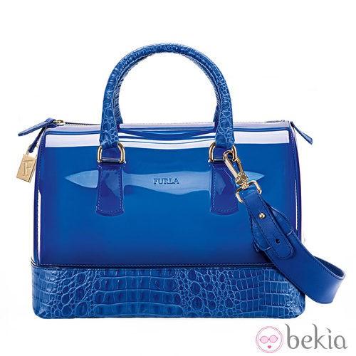 Bowling bag color azul de la colección primavera/verano 2013 de Furla