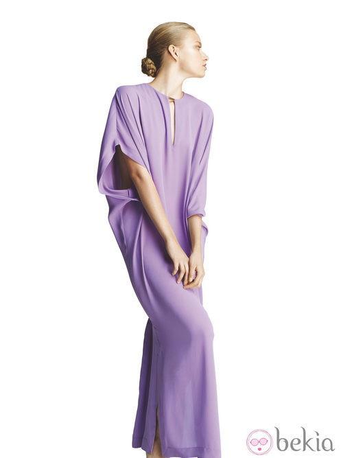 Vestido lila de la colección primavera/verano 2013 de Juanjo Oliva para Elogy