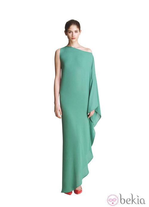 Vestido verde de la colección primavera/verano 2013 de Juanjo Oliva para Elogy