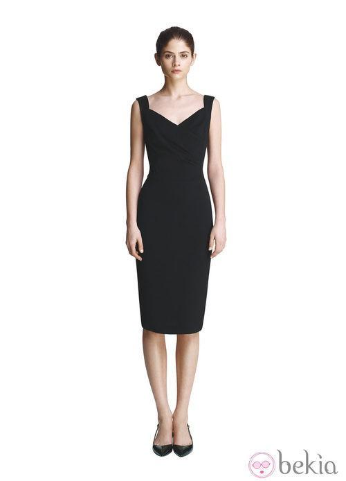 Vestido negro de la colección primavera/verano 2013 de Juanjo Oliva para Elogy