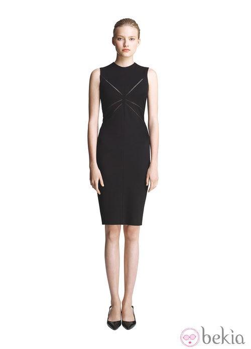 Vestido negro sin mangas de la colección primavera/verano 2013 de Juanjo Oliva para Elogy
