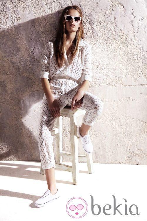 Jumpsuit blanco de la colección primavera/verano 2013 de River Island