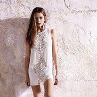 Vestido blanco con flecos de la colección primavera/verano 2013 de River Island