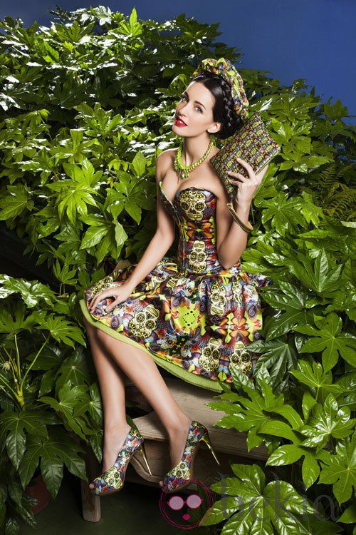 Noelia López posando con la colección primavera/verano 2013 de Maya Hansen para Fosco