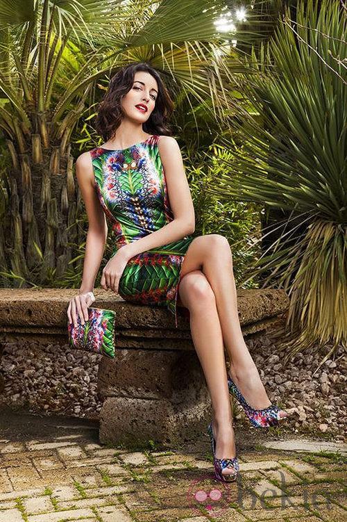 Noelia López con la colección primavera/verano 2013 de Maya Hansen para Fosco