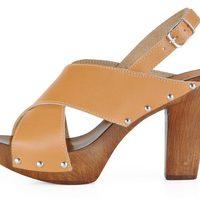 Sandalia de tacón de madera de la colección femenina primavera/verano 2013 de U.S. Polo Assn.