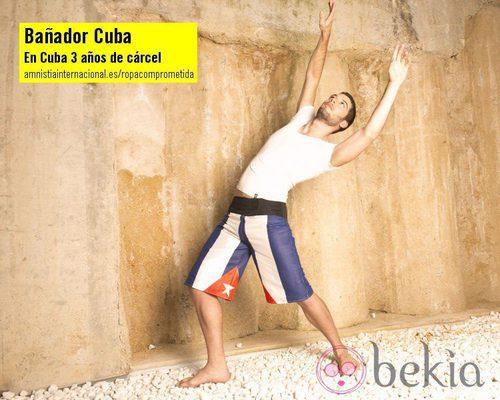 Bañador Cuba de la colección 'Ropa Comprometida' de Amnistía Internacional