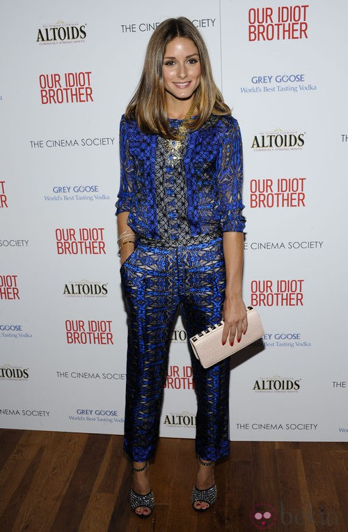 Olivia Palermo con traje psicodélico