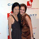 La diseñadora Vera Wang y Leighton Meester