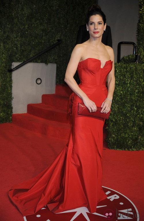 Sandra Bullock de Vera Wang en los Oscar 2011