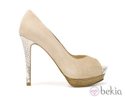 Zapatos de tacón de Zara en color nude