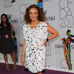 Diane von Fürstenberg en el premios CFDA 2011