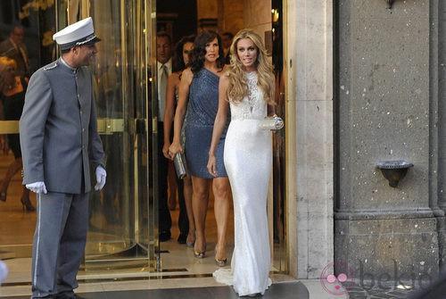 Petra Ecclestone de Ralph & Russo en la fiesta previa a su enlace