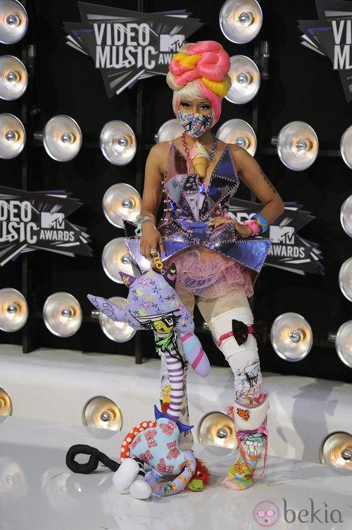 Nicki Minaj, indescriptible en los MTV Video Music Awards