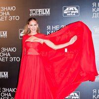 Sarah Jessica Parker con diseño Giambattista Valli en Moscú