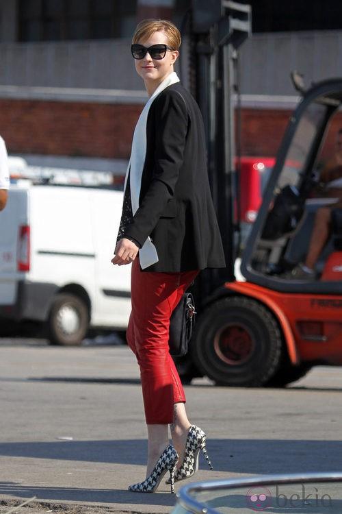 Evan Rachel Wood en el Festival de Venecia con zapatos de Ferragamo