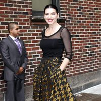 Julianna Margulies de Carolina Herrera en el programa de David Letterman