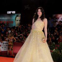 Andrea Riseborough de Christian Dior en el Festival de Venecia