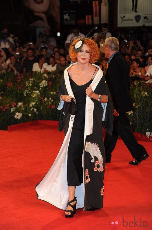 Marina Ripa en el Festival de Venecia