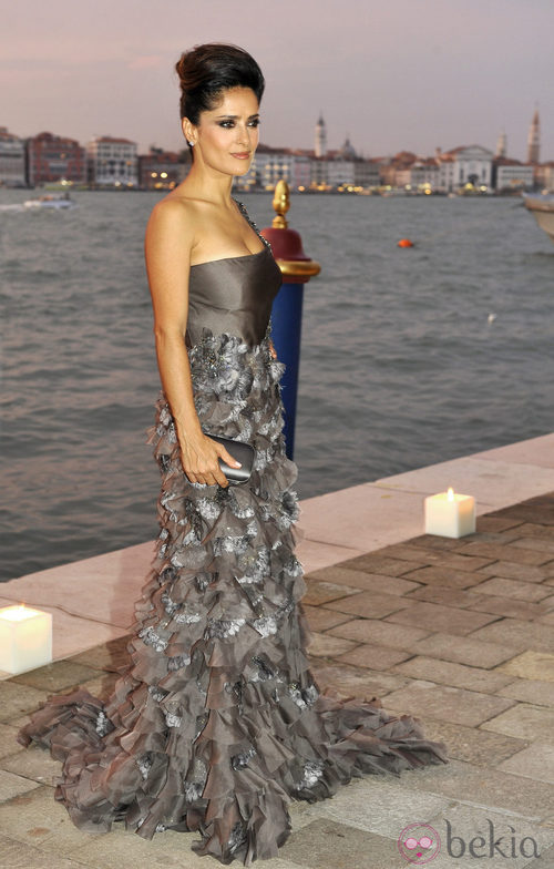 Salma Hayek en la fiesta de Gucci en el Festival de Venecia