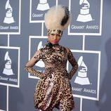 Nicki Minaj con estampado de leopardo