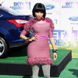Nicki Minaj con ajustadísimo vestido rosa