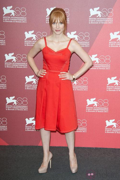 Jessica Chastain presenta 'Wilde Salome' en el Festival de Venecia