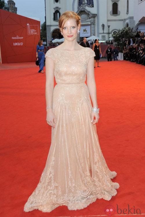 Jessica Chastain de Elie Saab en el Festival de Venecia