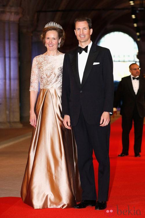La Princesa Sofía de Liechtenstein con un dos piezas en la cena previa a la abdicación de la Reina Beatriz de Holanda