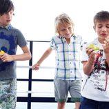 Looks de diario para niño de la colección primavera/verano 2013 de Benetton