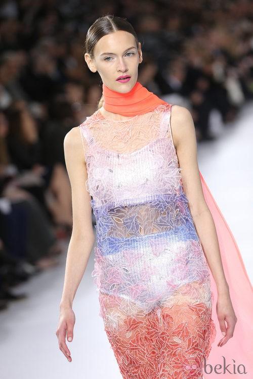 Vestido de transparencias de la colección crucero 2014 de Dior