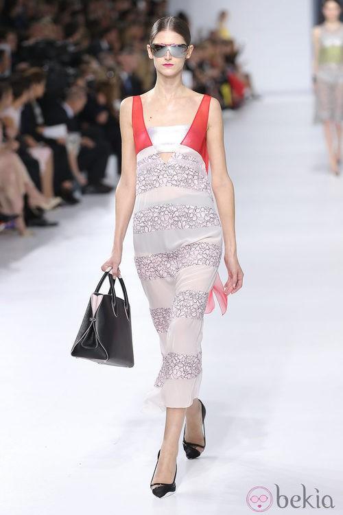 Vestido a rayas de la colección crucero 2014 de Dior