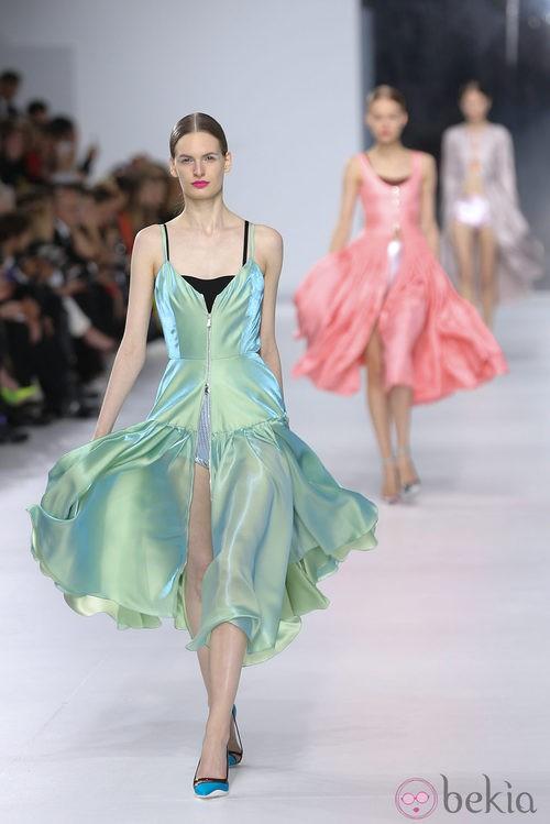Vestido verde de la colección crucero 2014 de Dior
