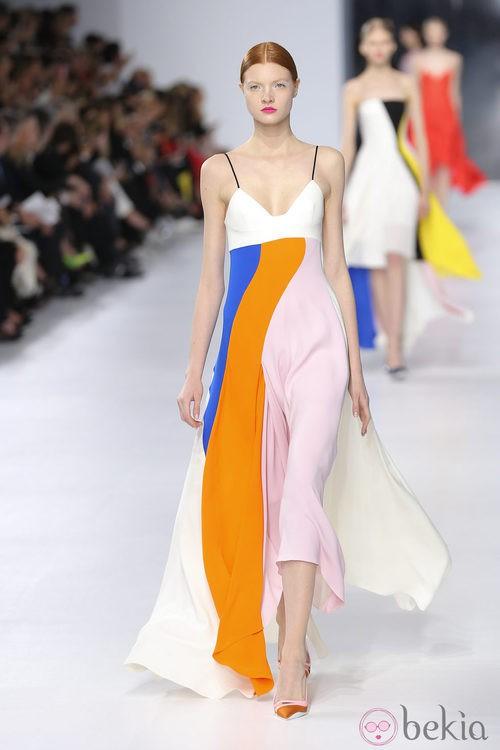 Vestido largo de tirantes de la colección crucero 2014 de Dior