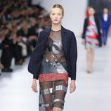 Vestido transparente de la colección crucero 2014 de Dior