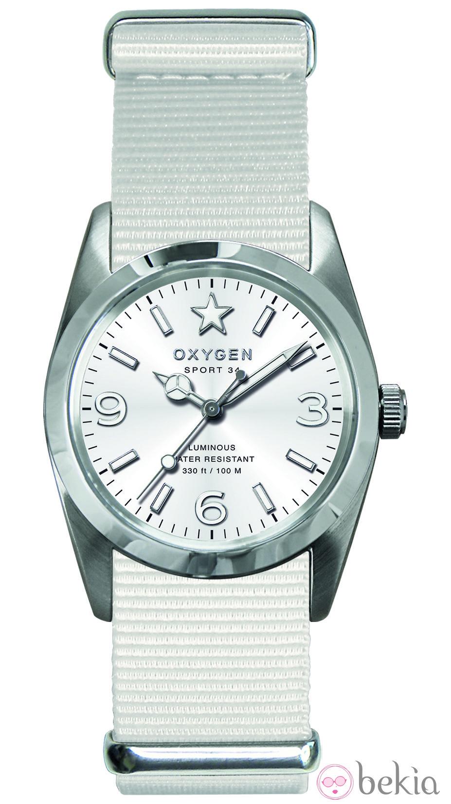 d18a69d80d33 Anterior Reloj modelo Sport Marine en blanco de la colección primavera verano  2013 de Oxygen