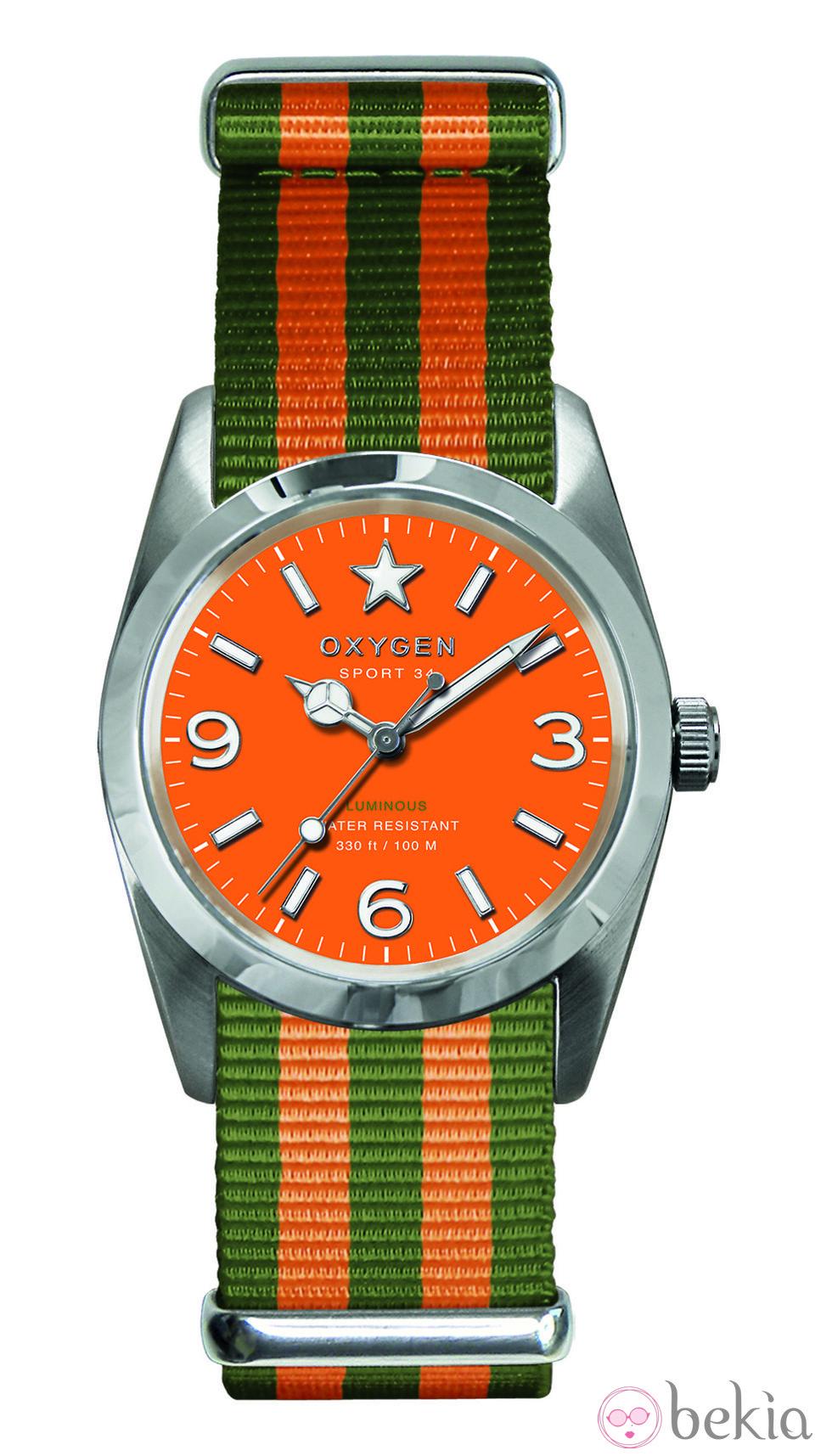 82e5142334b3 Anterior Reloj naranja modelo Sport 34 de la colección primavera verano 2013  de Oxygen