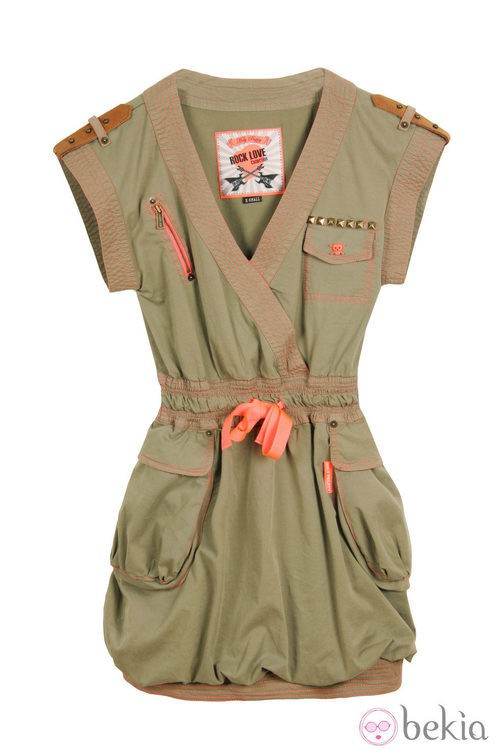 Vestido de la línea 'Militar Chic' de la colección primavera/verano 2013 de Holy Preppy