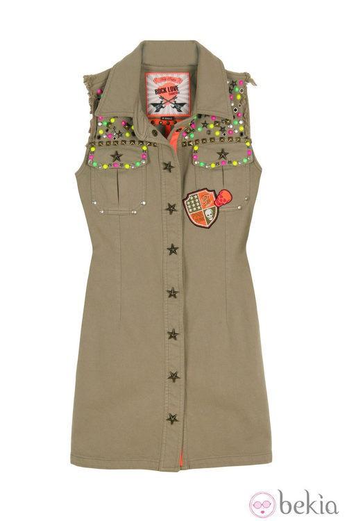 Vestido de botones de la línea 'Militar Chic' de la colección primavera/verano 2013 de Holy Preppy