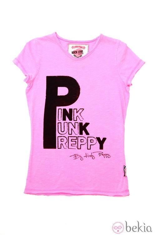 Camiseta de la línea 'Pink Punk' de la colección primavera/verano 2013 de Holy Preppy