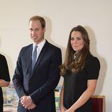 Kate Middleton vestida con un look de riguroso negro