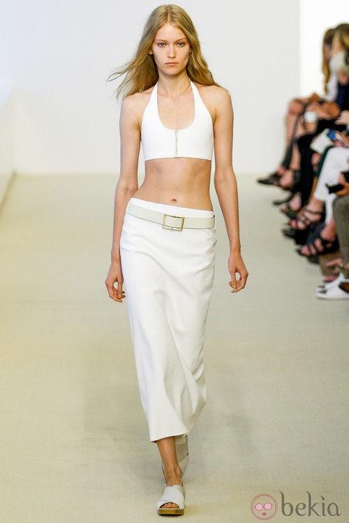 Top y falda de tubo de la colección Resort 2014 de Calvin Klein