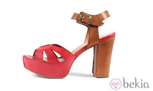 Sandalia Vacheta rosa de la colección primavera/verano 2013 de Sixtyseven