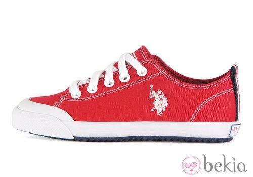 Zapatillas rojas de la colección otoño/invierno 2013 de U.S. Polo Assn