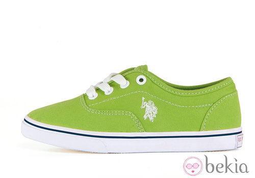 Zapatillas verdes de la colección otoño/invierno 2013 de U.S. Polo Assn