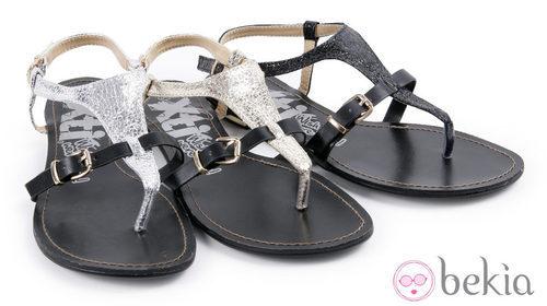 Sandalias metalizadas de la colección 'Innovación' primavera/verano 2013 de XTI