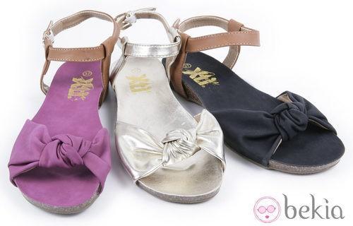 Sandalias anudadas al tobillo de la colección 'Innovación' primavera/verano 2013 de XTI