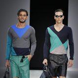 Looks de la colección primavera/verano 2014 de Emporio Armani en la Semana de la Moda de Milán