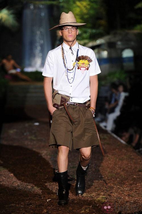 Bermudas de la colección primavera/verano 2014 de DSquared2 en la Semana de la Moda de Milán