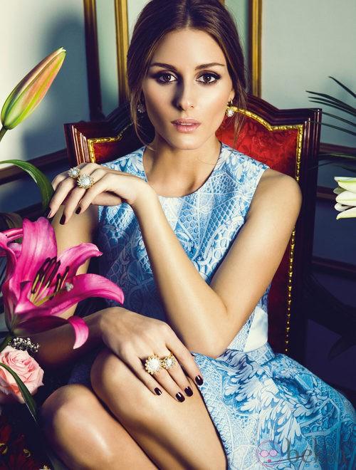 Olivia Palermo con anillo y collar 'Reina' de la colección Tesoros del Imperio de Carrera y Carrera